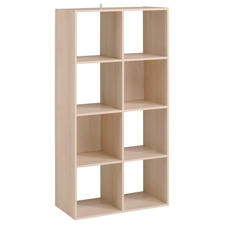 Etagère cube 8 cases Acacia - FELIX n°3