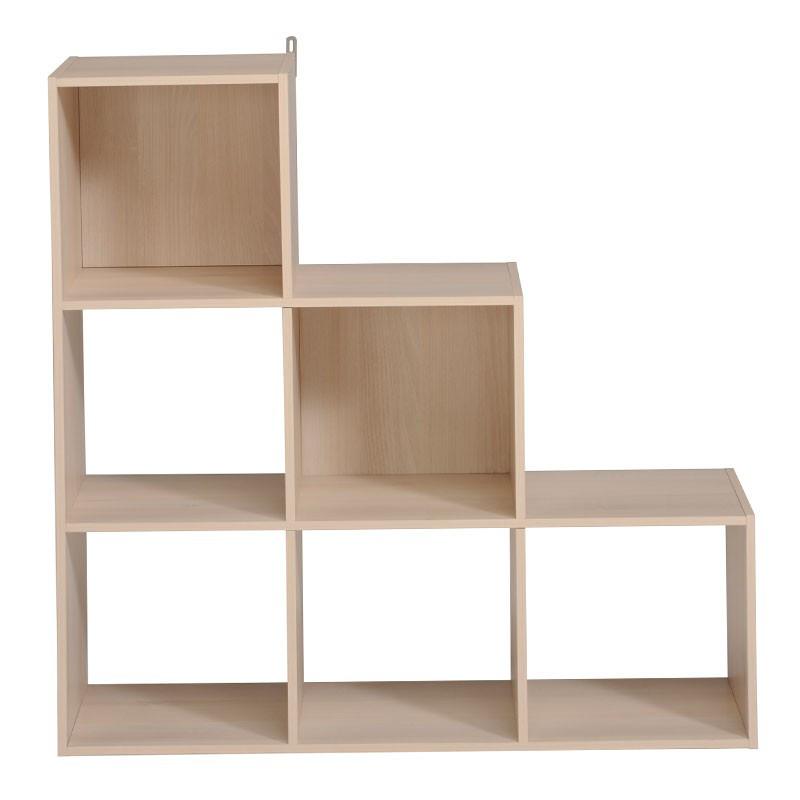 Etagère escalier cube 6 cases Blanc - FELIX n°3