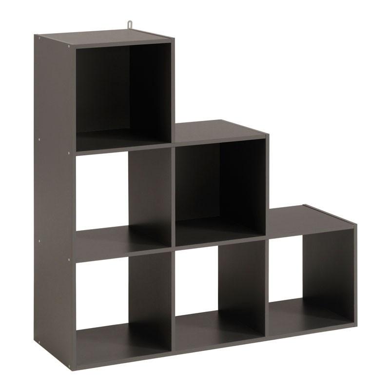 Etagère escalier cube 6 cases Gris - FELIX n°4