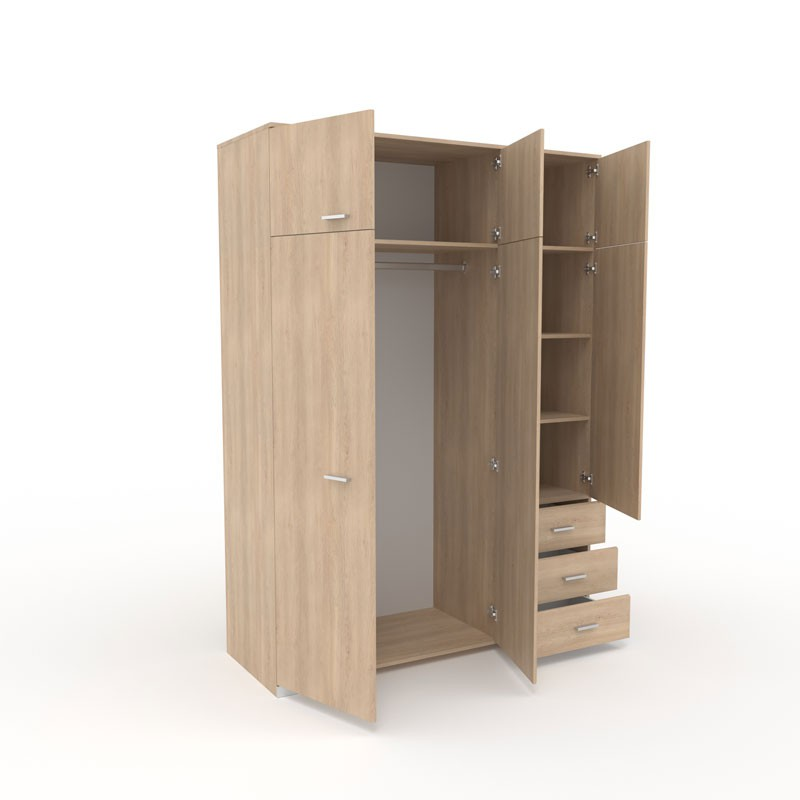 armoire dressing ch ne 3 portes 3 tiroirs lille univers. Black Bedroom Furniture Sets. Home Design Ideas
