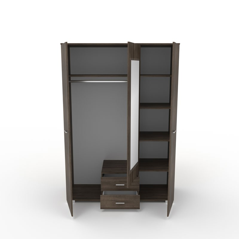 armoire dressing noyer et miroir lille univers de la chambre. Black Bedroom Furniture Sets. Home Design Ideas