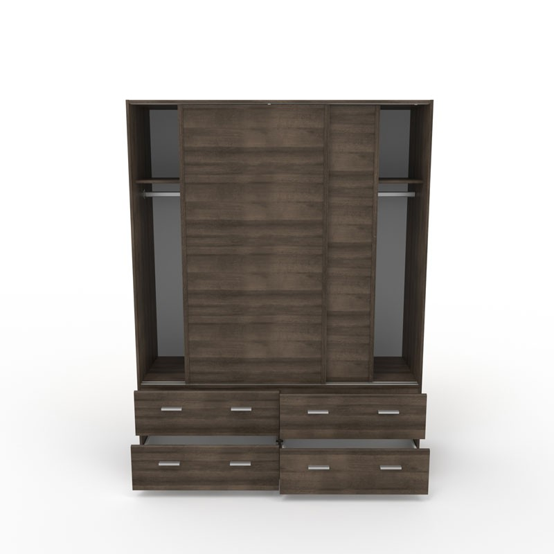Armoire dressing noyer portes coulissantes lille univers - Armoires dressing portes coulissantes ...