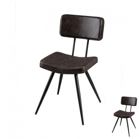 duo de chaises simili cuir marron bug univers de la salle manger. Black Bedroom Furniture Sets. Home Design Ideas
