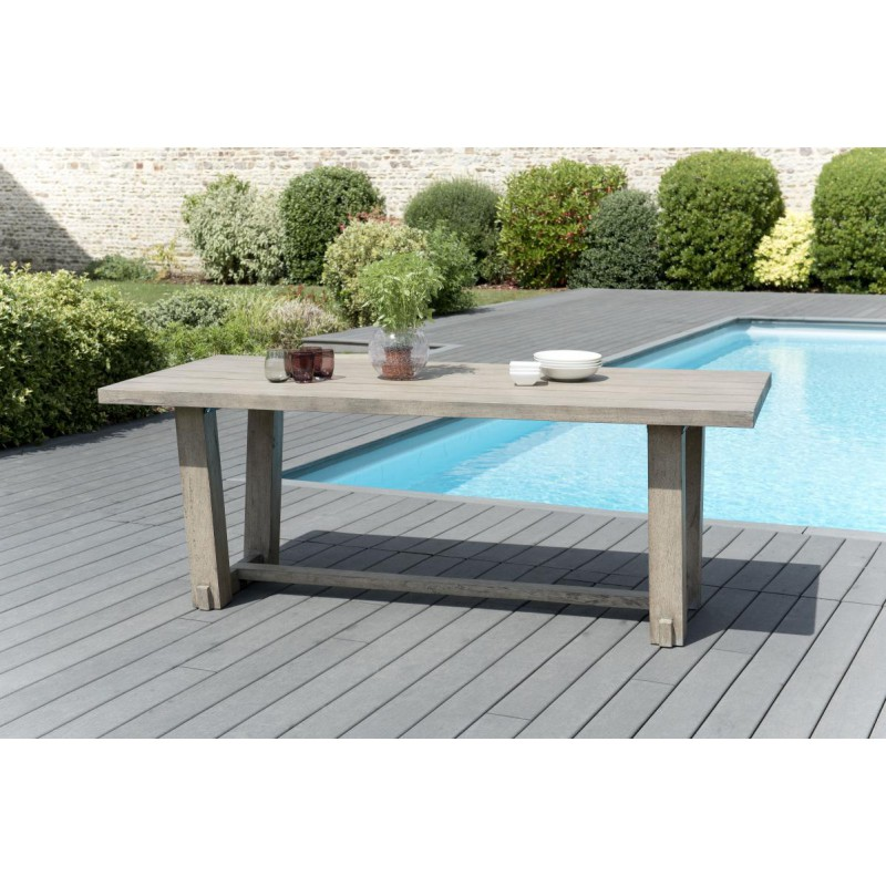 ensemble table chaises de jardin teck gard n 5 univers. Black Bedroom Furniture Sets. Home Design Ideas