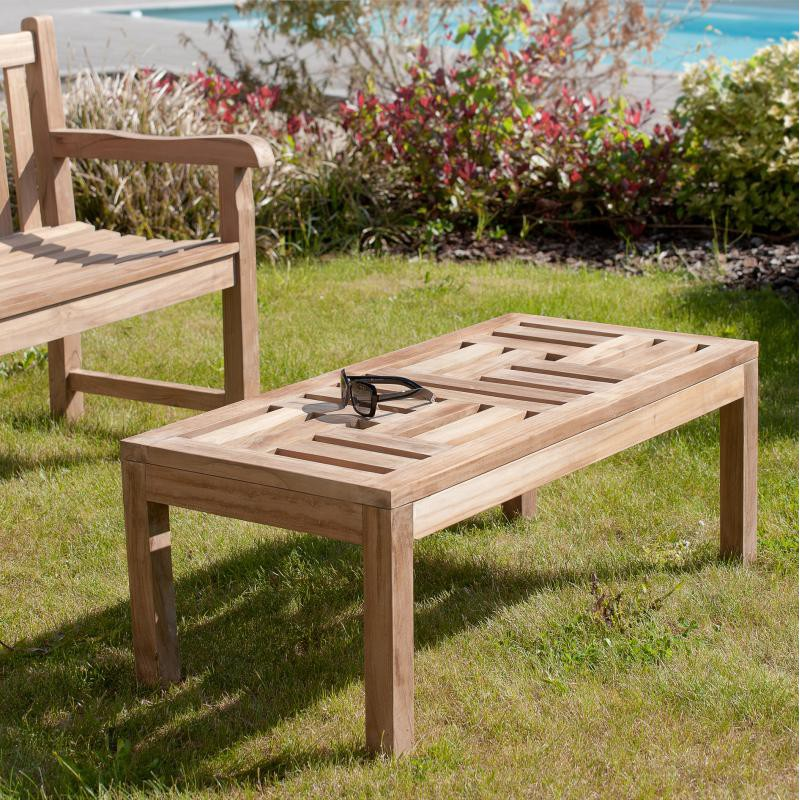 table basse rectangulaire en teck aby n 2 univers du jardin. Black Bedroom Furniture Sets. Home Design Ideas
