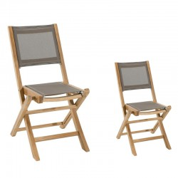 Duo de chaises Taupe - ABY