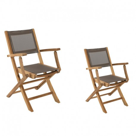 Duo de fauteuils Taupe - ABY
