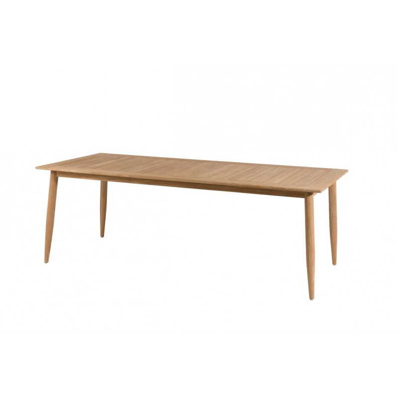 Table de repas scandinave en teck eloi univers du jardin for Table scandinave en teck