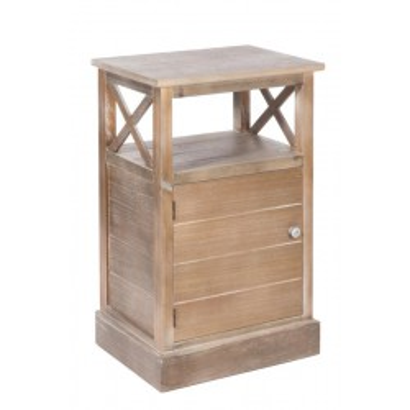 Table de chevet 1 porte Bois - FERRET