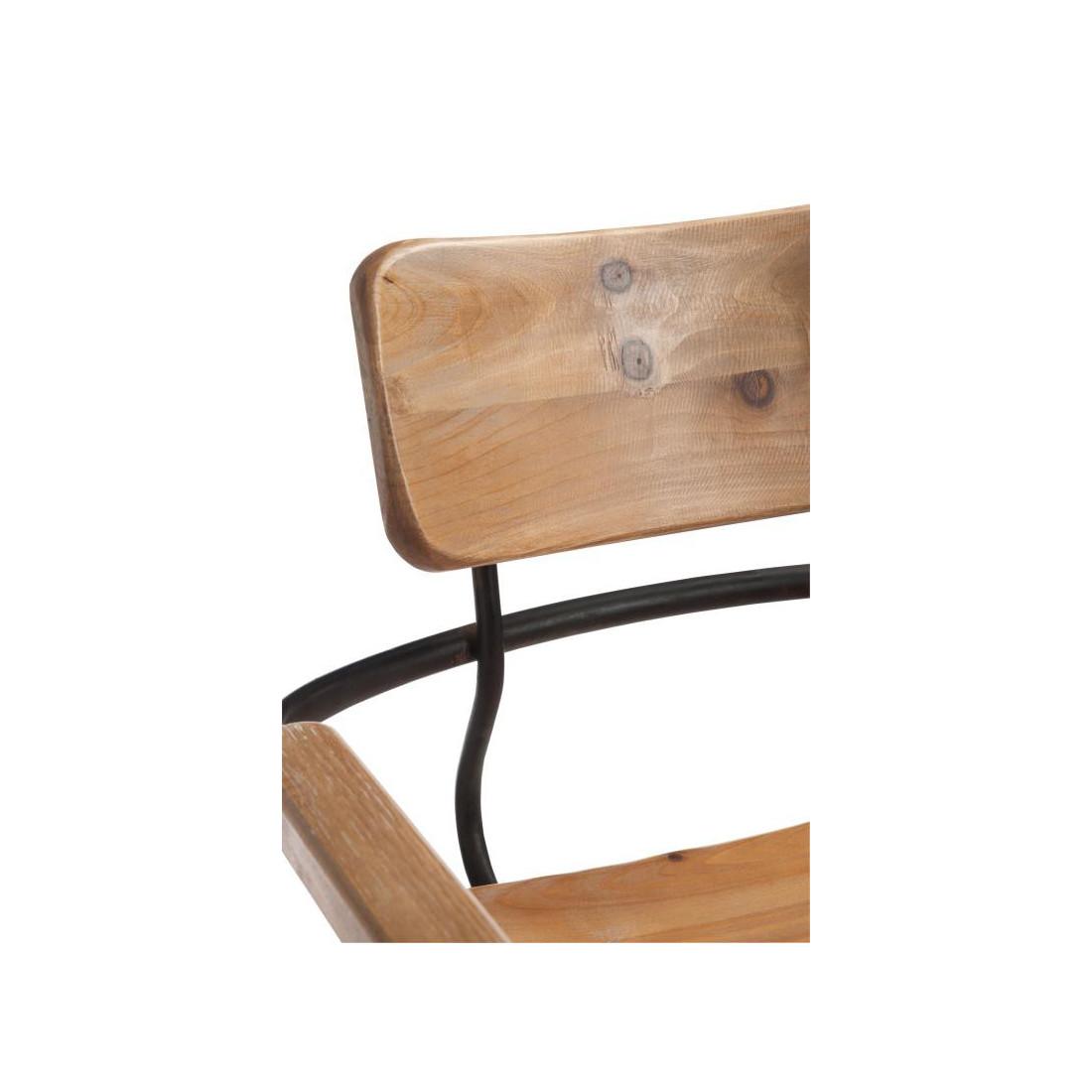 tabouret de bar bois m tal venus univers du salon. Black Bedroom Furniture Sets. Home Design Ideas