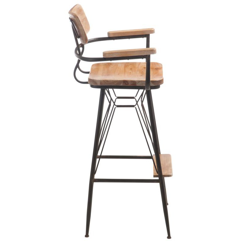 tabouret de bar bois m tal venus univers du salon. Black Bedroom Furniture Sets. Home Design Ideas