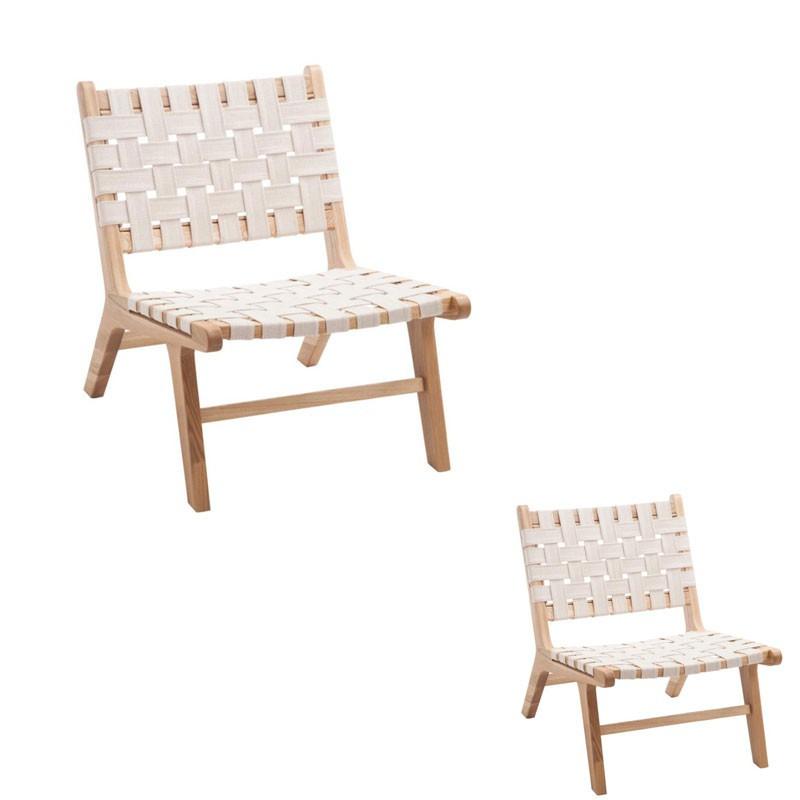 Duo de chaises Ethnique Blanc - MARS