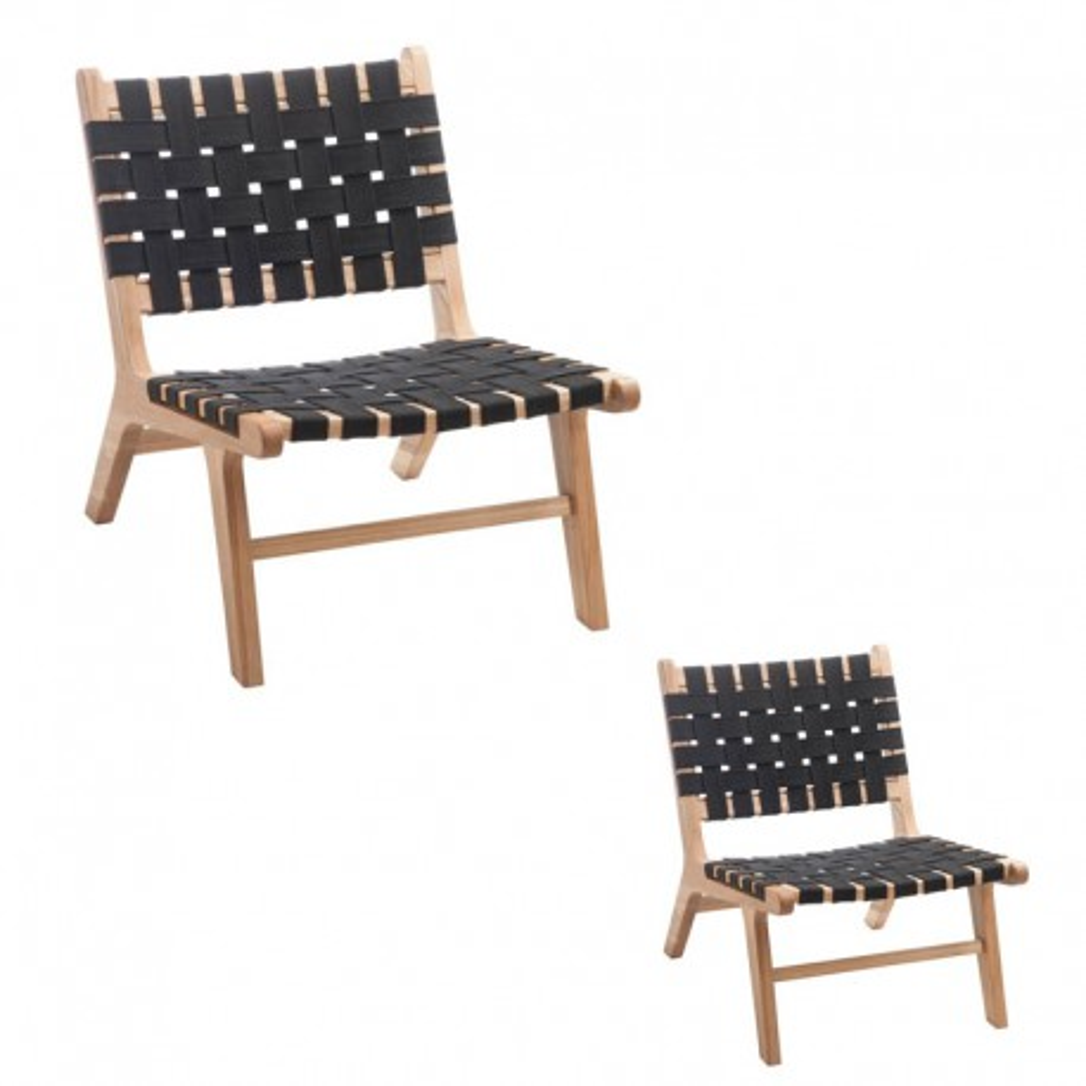 Duo de chaises Ethnique Noir - MARS