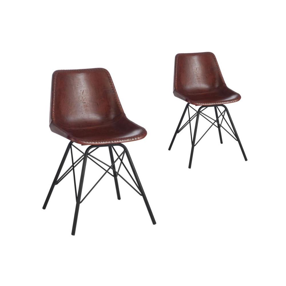 Duo de chaises Marron - URANUS