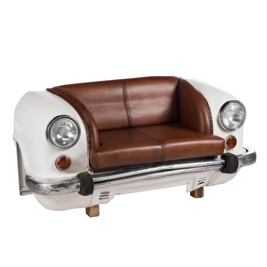 Canap voiture m tal cuir tacots univers du salon for Salon cuir voiture