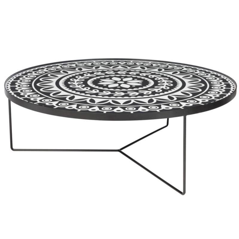 Table basse Métal Noir/Blanc - XAN