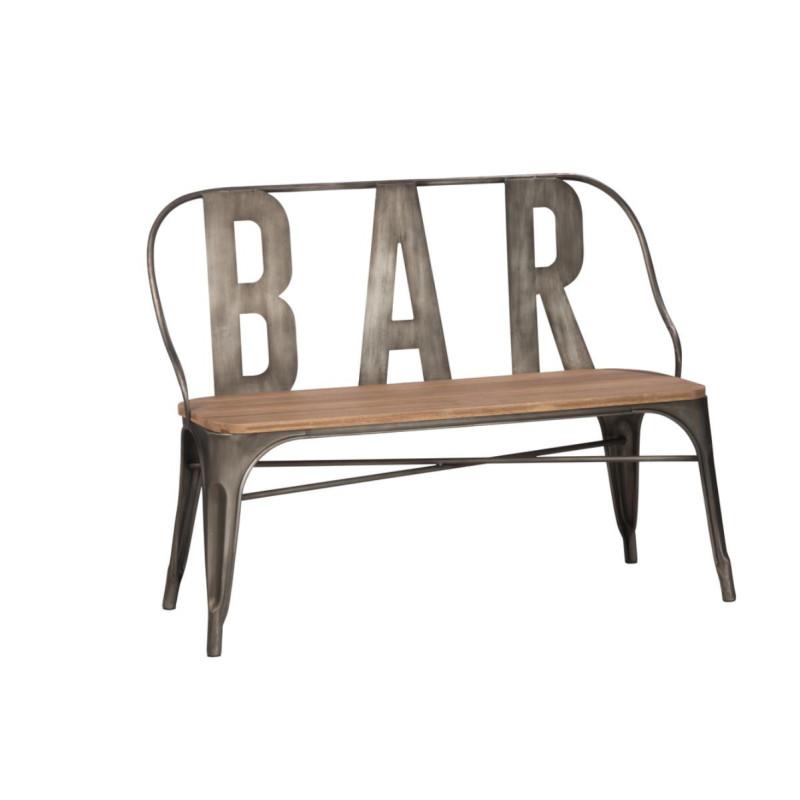 Banc Bar Métal/Bois - LUCE