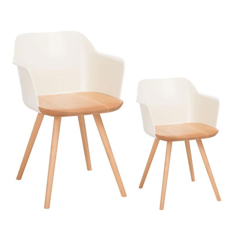 Duo de chaises rétro Beige - RAMIZ