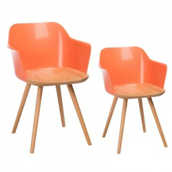 Duo de chaises rétro Orange - RAMIZ