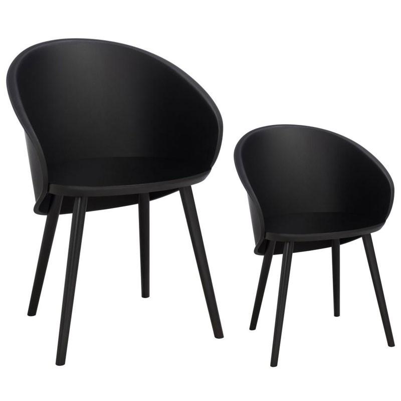Duo de chaises Noir - SELENA