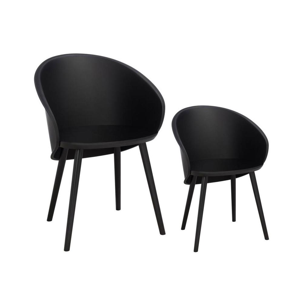 Duo de chaises Noires - SELENA