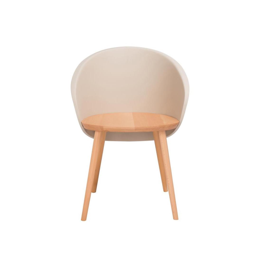 Duo de chaises Taupe clair SELENA - Univers de la Salle à Manger