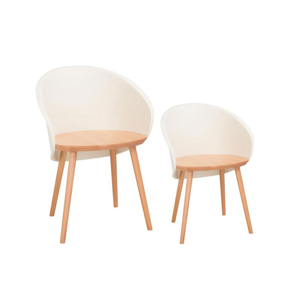 Duo de chaises Beige SELENA - Univers Salle à Manger
