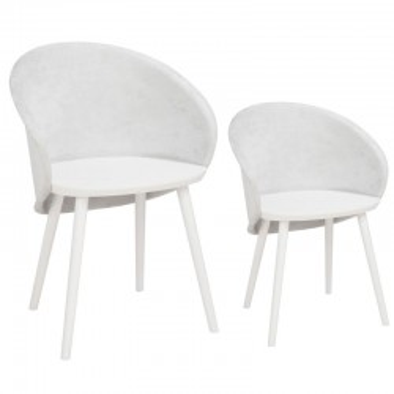 Duo de chaises Tissu Gris - SELENA