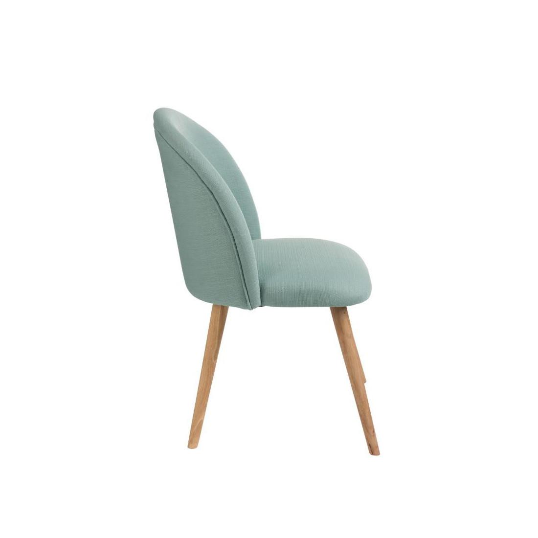 duo de chaises tissu vert c ladon lila univers des assises. Black Bedroom Furniture Sets. Home Design Ideas
