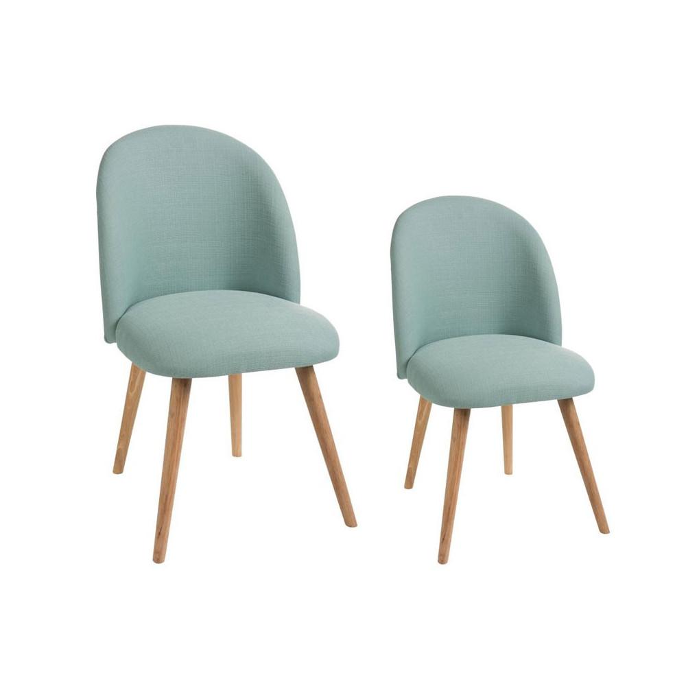 Duo de chaises Tissu Vert céladon - LILA