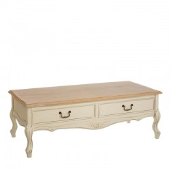 table basse 2 tiroirs shabby univers du salon. Black Bedroom Furniture Sets. Home Design Ideas