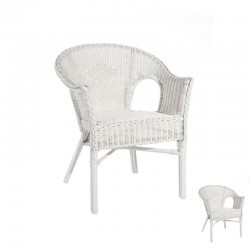 Duo de Chaises Bridge Rotin Blanc - TANAR