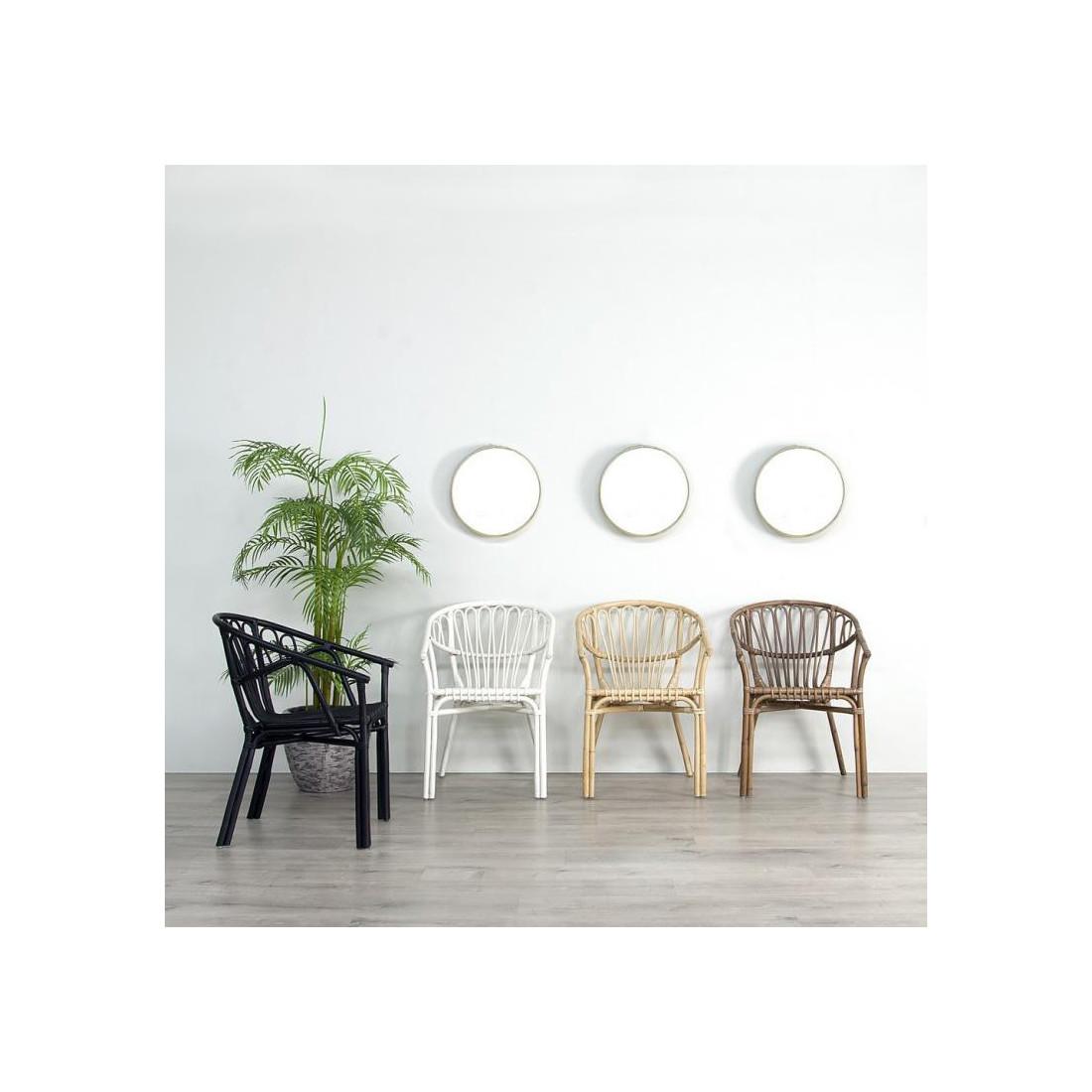 Duo de Chaises Rotin Blanc TANAR - Univers des Assises et Salon