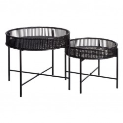 Duo de Tables d'appoint Rotin - TANAR