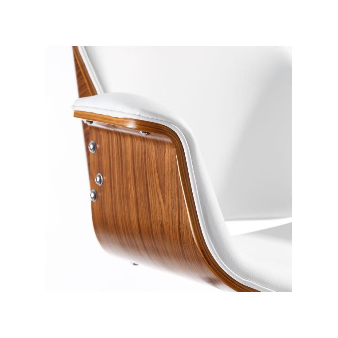 super populaire 74145 e3f70 Chaise de bureau Simili Cuir Blanc CONCORDE - Univers du Bureau
