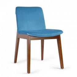 Chaise Velours Bleu - MORGAN
