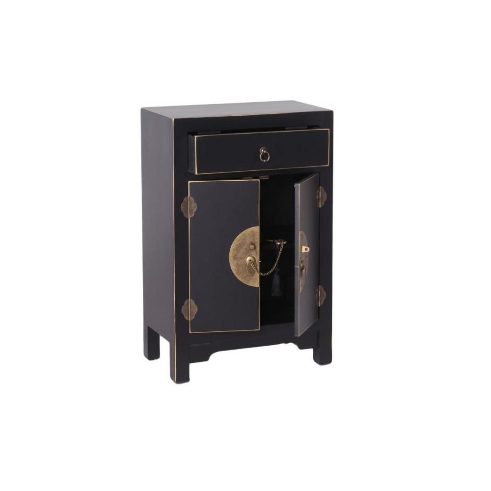 Confiturier 2 portes, 1 tiroir Noir Meuble Chinois - PEKIN