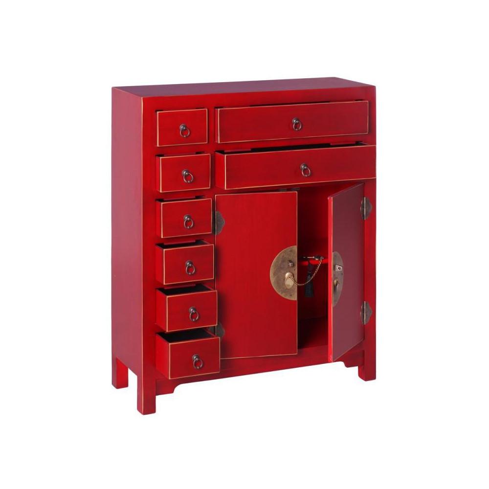Meuble d 39 entr e rouge meuble chinois pekin univers for Meuble chinois rouge