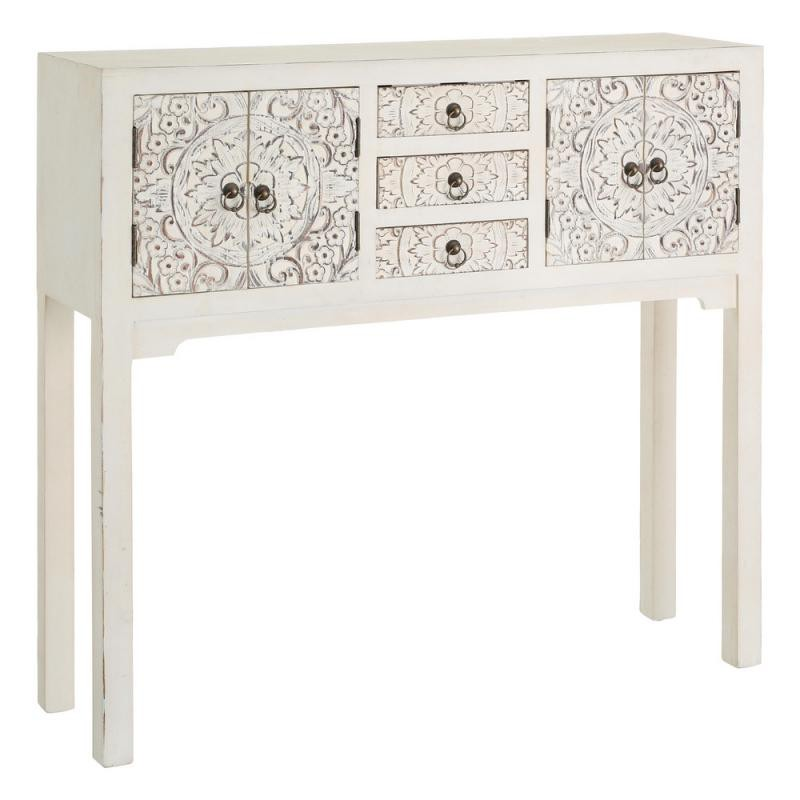 console blanche meuble chinois pekin univers des petits meubles. Black Bedroom Furniture Sets. Home Design Ideas