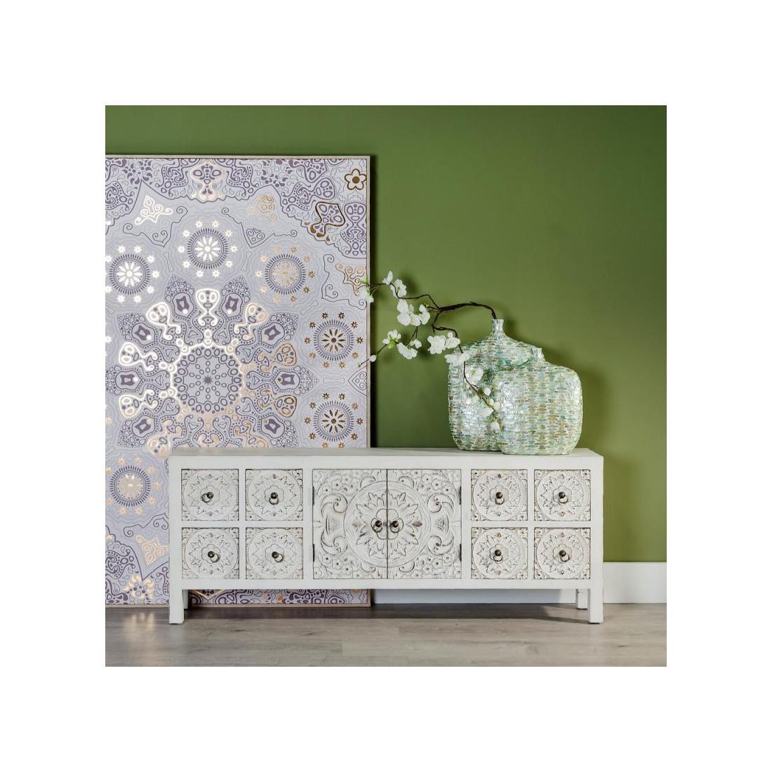 dos de canap blanc fleur chinois pekin univers des petits meubles. Black Bedroom Furniture Sets. Home Design Ideas