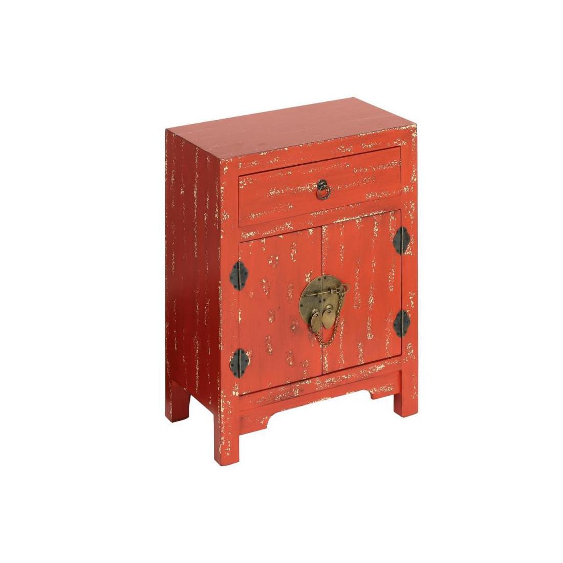 confiturier rouge vieilli meuble chinois pekin univers