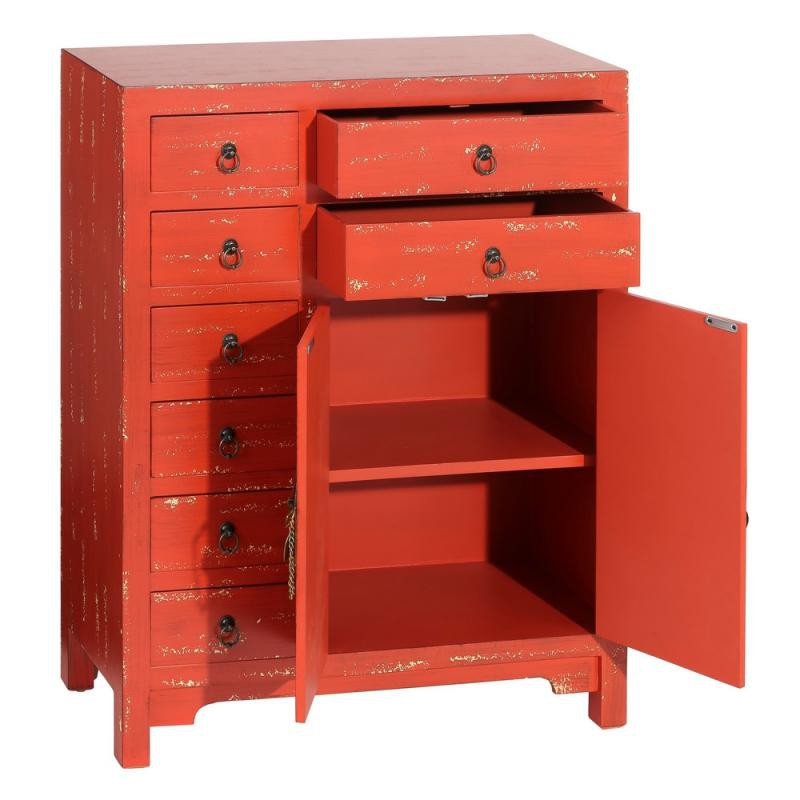 meuble d 39 entr e rouge vieilli chinois pekin univers petits meubles. Black Bedroom Furniture Sets. Home Design Ideas