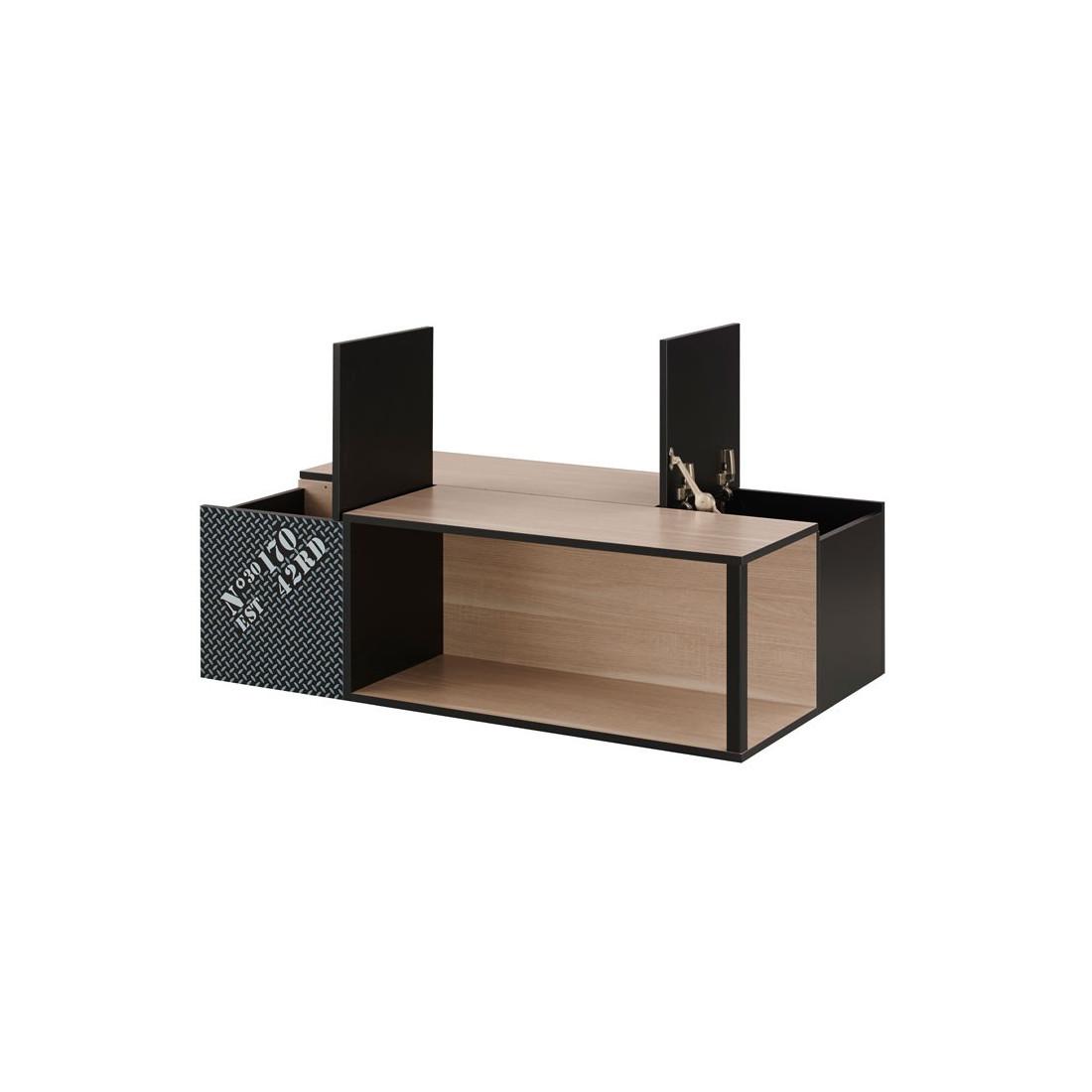 Table Basse Avec Rangements Chene Clair Brenda Univers Du Salon