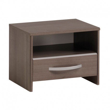 Table de chevet 1 tiroir bois brun contemporain - Univers Chambre : Tousmesmeubles