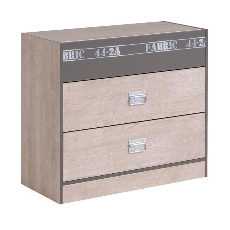 Commode 3 tiroirs industriel ado - Univers Chambre : Tousmesmeubles