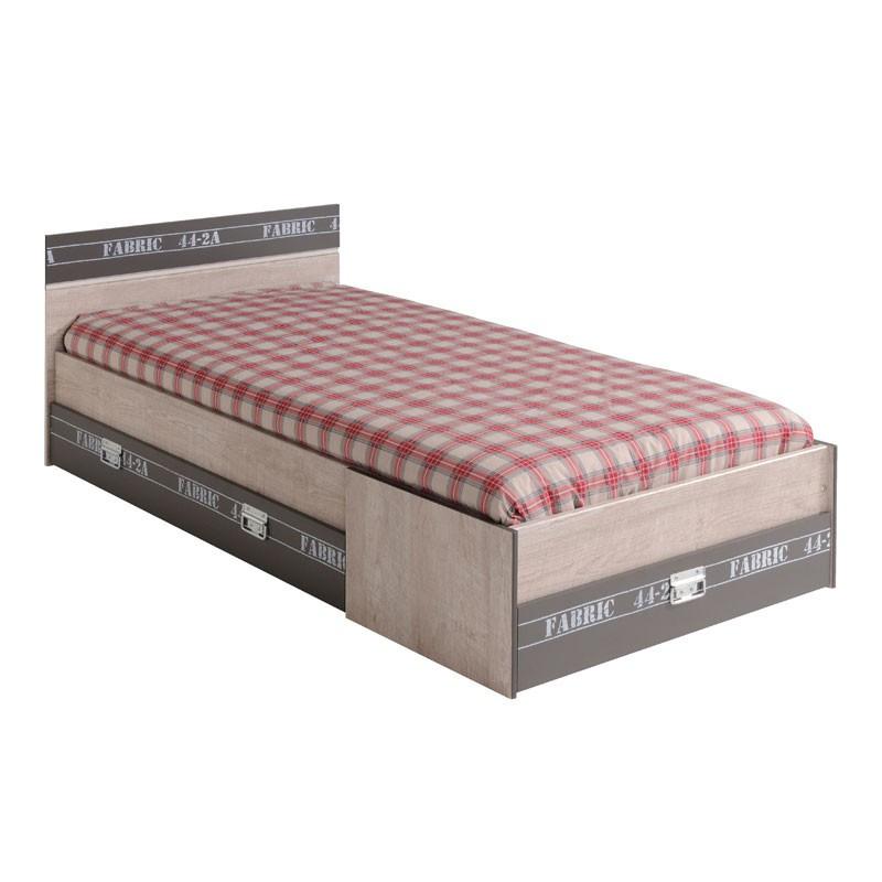 Cadre de lit à 3 tiroirs + Tête de lit 90*190 - FANTIK