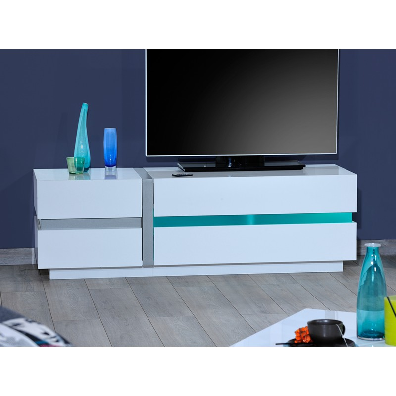 meuble tv leds 150 cm krys univers du salon tousmesmeubles. Black Bedroom Furniture Sets. Home Design Ideas