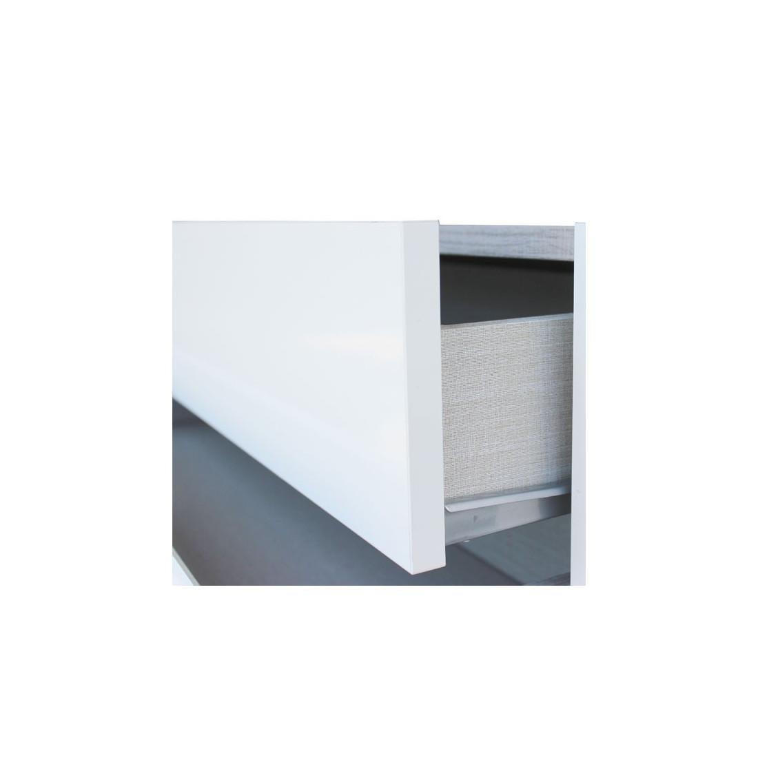 meuble d 39 entr e blanc laqu ch ne fonc miroirs nosila petits meubles. Black Bedroom Furniture Sets. Home Design Ideas