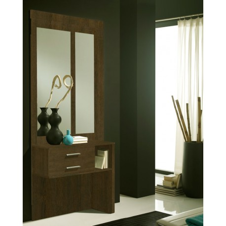 meuble d 39 entr e ch ne fonc miroirs mokene univers petits meubles. Black Bedroom Furniture Sets. Home Design Ideas