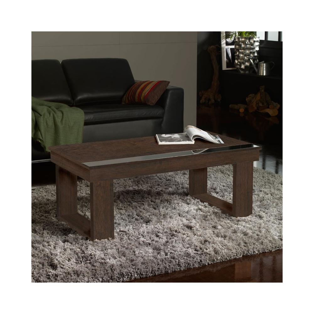 Table basse relevable Chêne foncé - UPTO